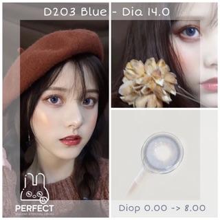[Mã FAKPI10 giảm 20% đơn 99K] Link 1 (Giá 1 Chiếc) 14.0 (0.00 -> 8.00) Lens D203 Blue – Kính Áp Tròng