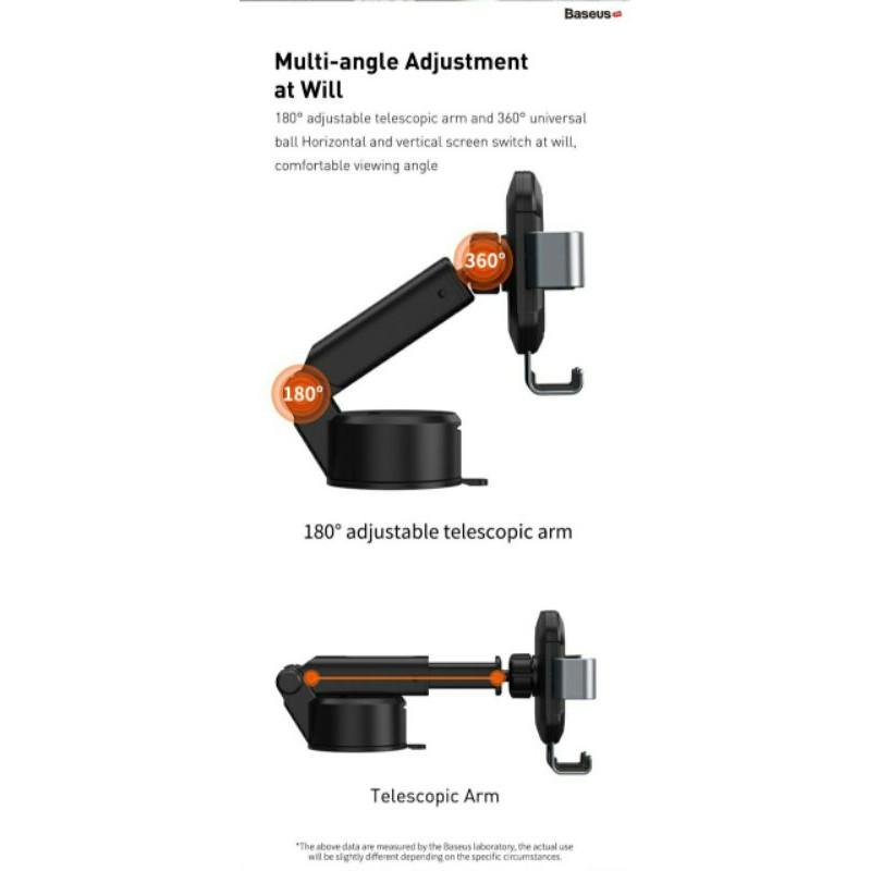 Giá đỡ điện thoại hút chân không dùng gắn kính trên xe hơi Baseus Tank Gravity Car Mount (Suction Base Holder for Car)