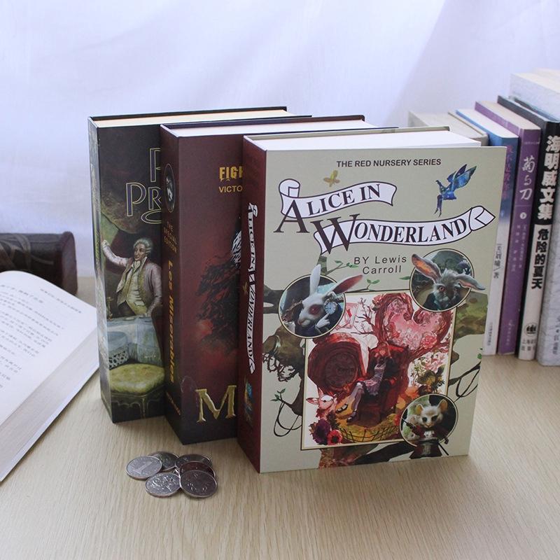 หนังสือกระดาษปลอดภัยสร้างสรรค์ piggy bank จําลองพจนานุกรมประหยัด