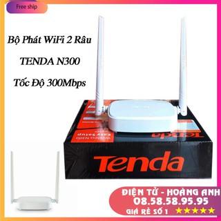 Bộ Phát 2 Râu WiFi Tenda N300- Chính hãng 300Mbps 2 râu