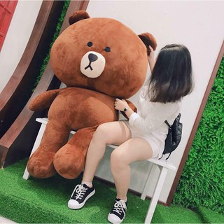 Gấu Bông Brown Cao Cấp Khổ Vải 1,4m Cao 1,2m – Quà Tặng Dễ Thương