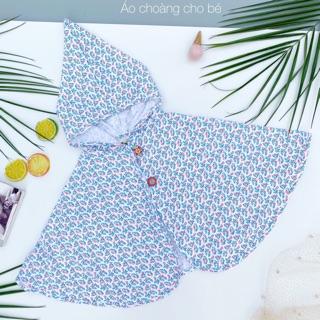 Áo choàng thiết kế cho bé – Hoạ tiết cá liti