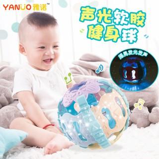 Bóng đồ chơi gặp nướu và vận động cho bé có âm thanh và ánh sáng
