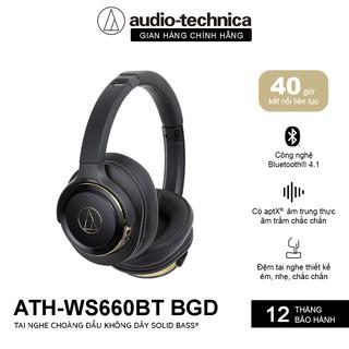 Tai Nghe Choàng Đầu Bluetooth 4.1 Audio-Technica Solid Bass ATH-WS660BT- Hàng Chính Hãng