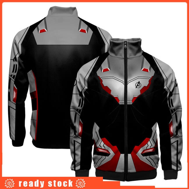 Women Men Cool Avengers Endgame Design Casual 3D Digital Printing Long Sleeve Zipper Jacket
