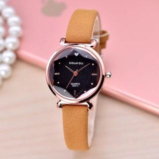 Đồng hồ nữ DOUKOU dây da cao cấp thời trang Hàn Quốc size 28mm nhỏ xinh thumbnail