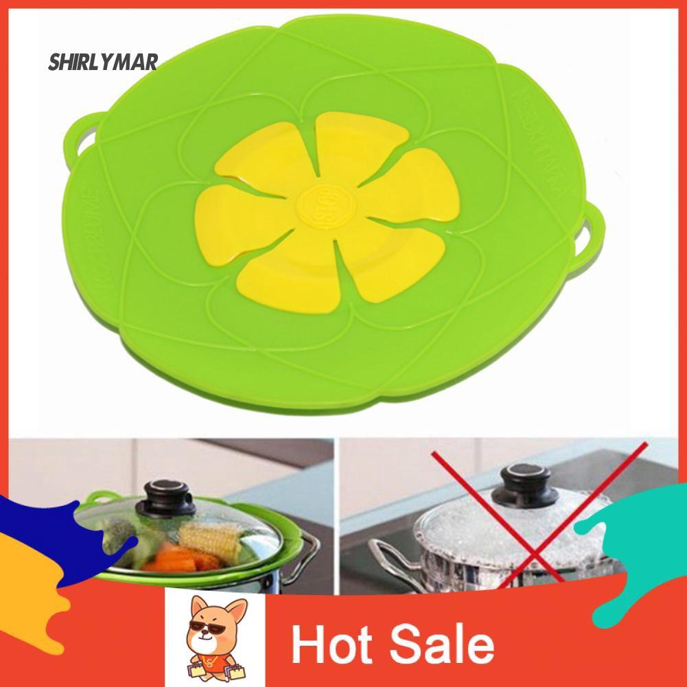 ஐSr 26cm Flower Silicone Lid Anti Spill Overflow Cover Pan Pot Cooking Accessories