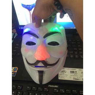 MẶT NẠ HÓA TRANG HACKER anonymous đèn led 7 màu cao cấp otoke