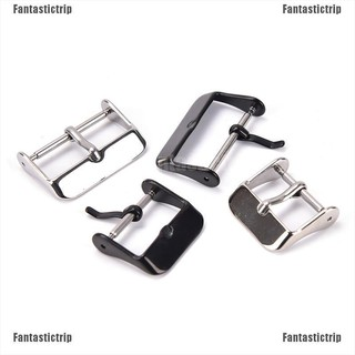 Fantastictrip 1pc 16 18 20 22 24mm Stainless Steel Buckle Parts Watch Band Strap Clasp
