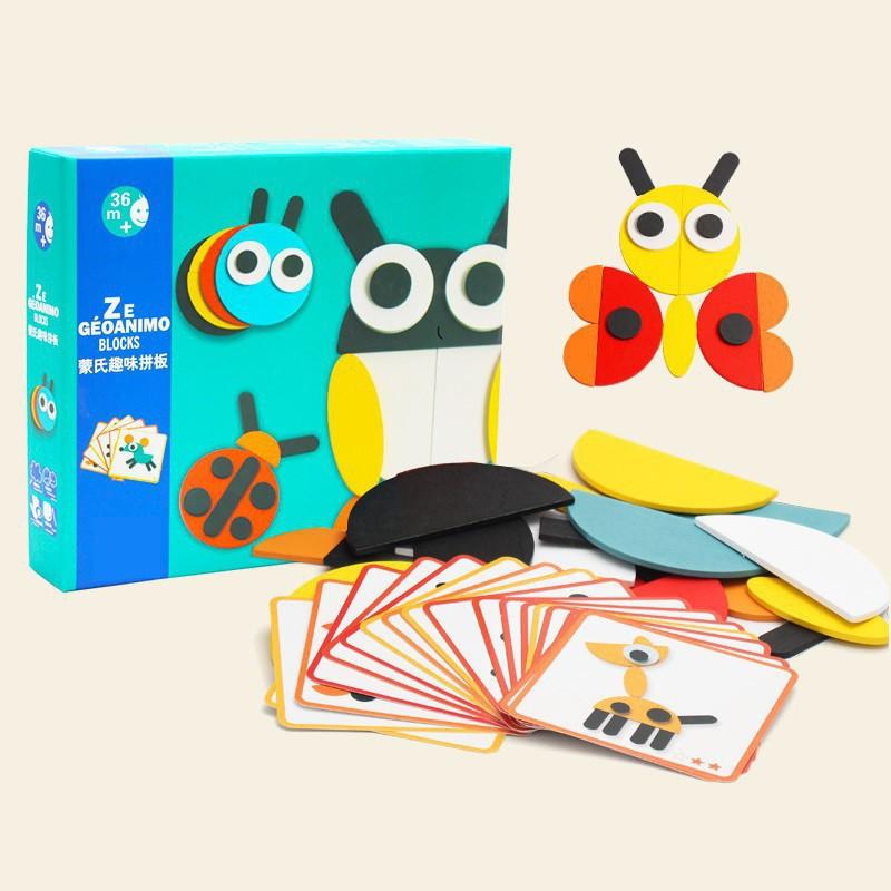 Đồ chơi ghép mô hình con vật bằng gỗ cho bé No.888 [New 2019] Rsỉ