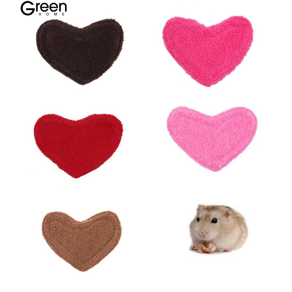 GH🐕 Pet Supplies Bed Hamster Rabbit Love Heart Soft  Pad Sleep Mat