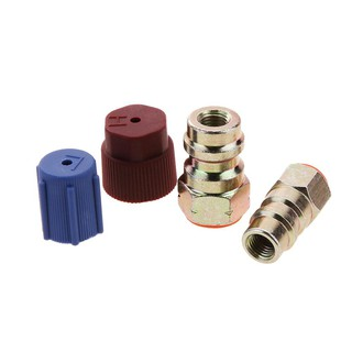 R12 to R134a High/Low AC Fitting Rfit 7/16 to 3/8 Conversion
