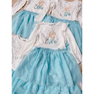 Váy công chúa in hình Elsa cho bé