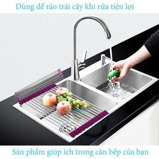 [HOT DEAL] Kệ Chén Xếp Gọn Để Bồn Rửa Chén Bằng INOX