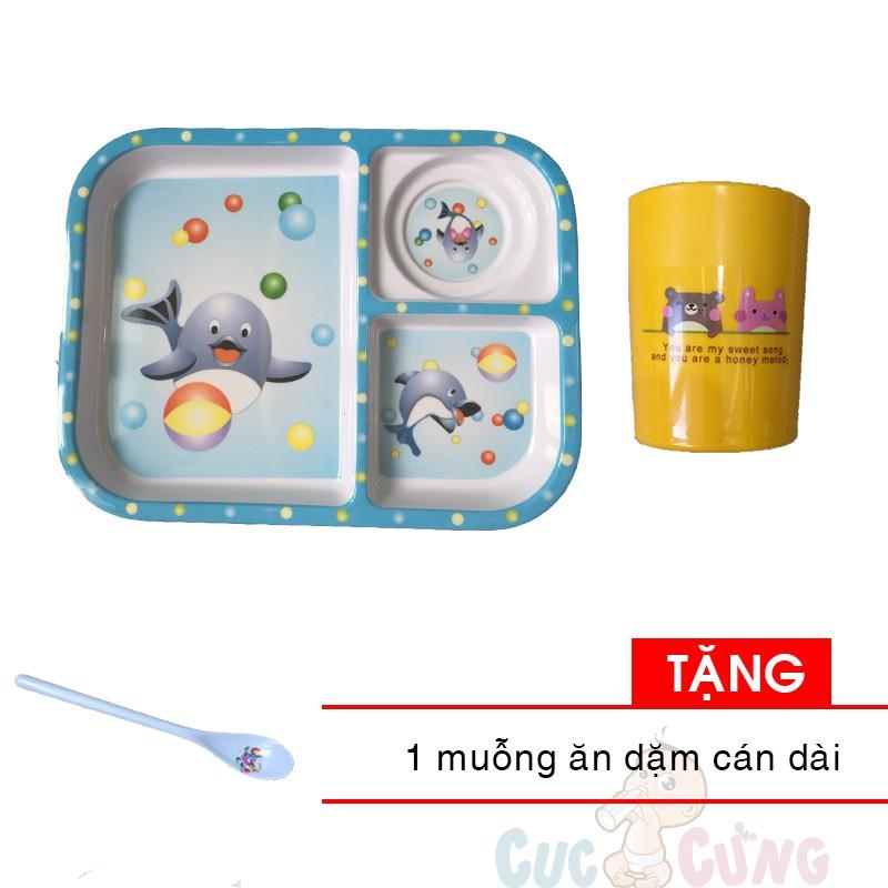 Khay cho bé tập ăn 3 ngăn hình chữ nhật nhựa - 3F - màu xanh dương + 1 ly uống nước in hình Tặng 1 cái muỗng cán dài - 21534612 , 531696551 , 322_531696551 , 77000 , Khay-cho-be-tap-an-3-ngan-hinh-chu-nhat-nhua-3F-mau-xanh-duong-1-ly-uong-nuoc-in-hinh-Tang-1-cai-muong-can-dai-322_531696551 , shopee.vn , Khay cho bé tập ăn 3 ngăn hình chữ nhật nhựa - 3F - màu xanh dươ