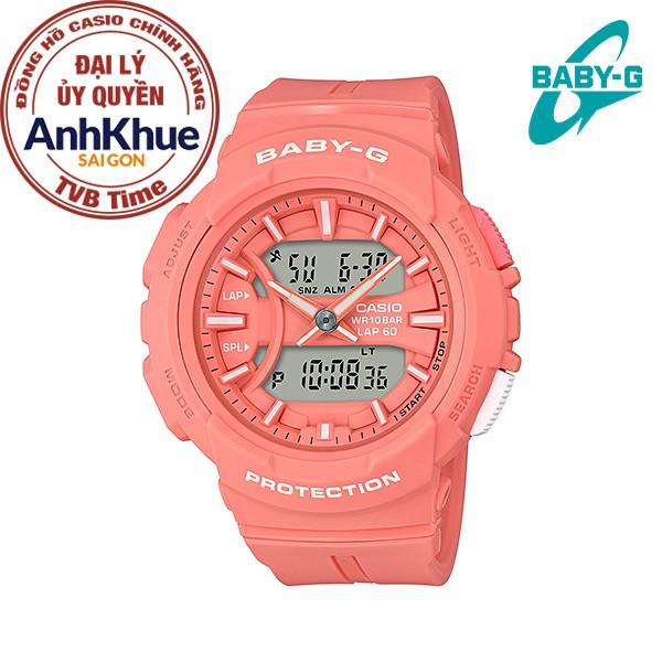 Đồng hồ nữ dây nhựa Casio Baby-G chính hãng Anh Khuê BGA-240BC-4ADR