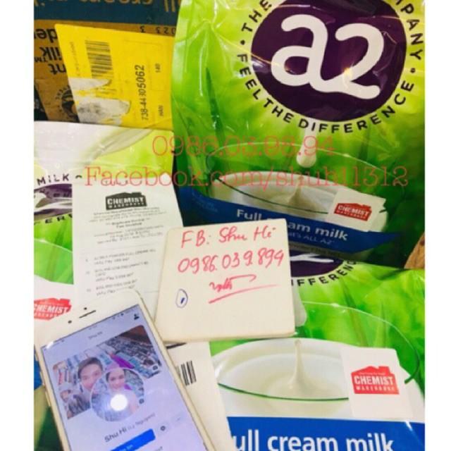 Sữa A2 Úc Full Cream - Sữa Tươi Nguyên Kem Dạng Bột 1kg (đủ bill Chemist)