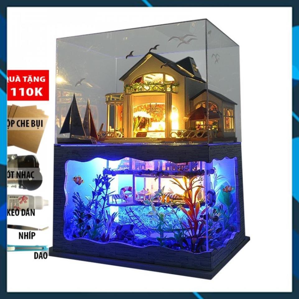 [Mã LIFE0404 giảm 10% đơn 100K] Mô hình nhà búp bê gỗ DIY Nhà búp bê Impressed Hawaii TYUC6 Toy World