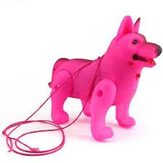 Chú chó đồ chơi có đèn có nhạc dễ thương (giao màu ngẫu nhiên)