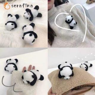 Plush Stuffed Doll Toy Cute Panda Shape Hanging Pendant for Backpack Bag Decor