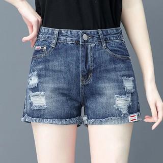 Quần short Denim lưng cao ống rộng thời trang mùa hè hàn quốc cho nữ thumbnail