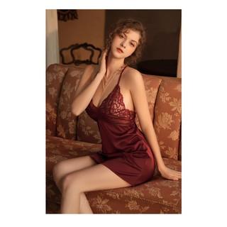Váy ngủ hai dây lụa satin sexy cao cấp Đầm mặc nhà gợi cảm quyến rũ Mã 09 thumbnail