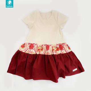 Váy bé gái vải thô 3 đoạn họa tiết điệp Lamm