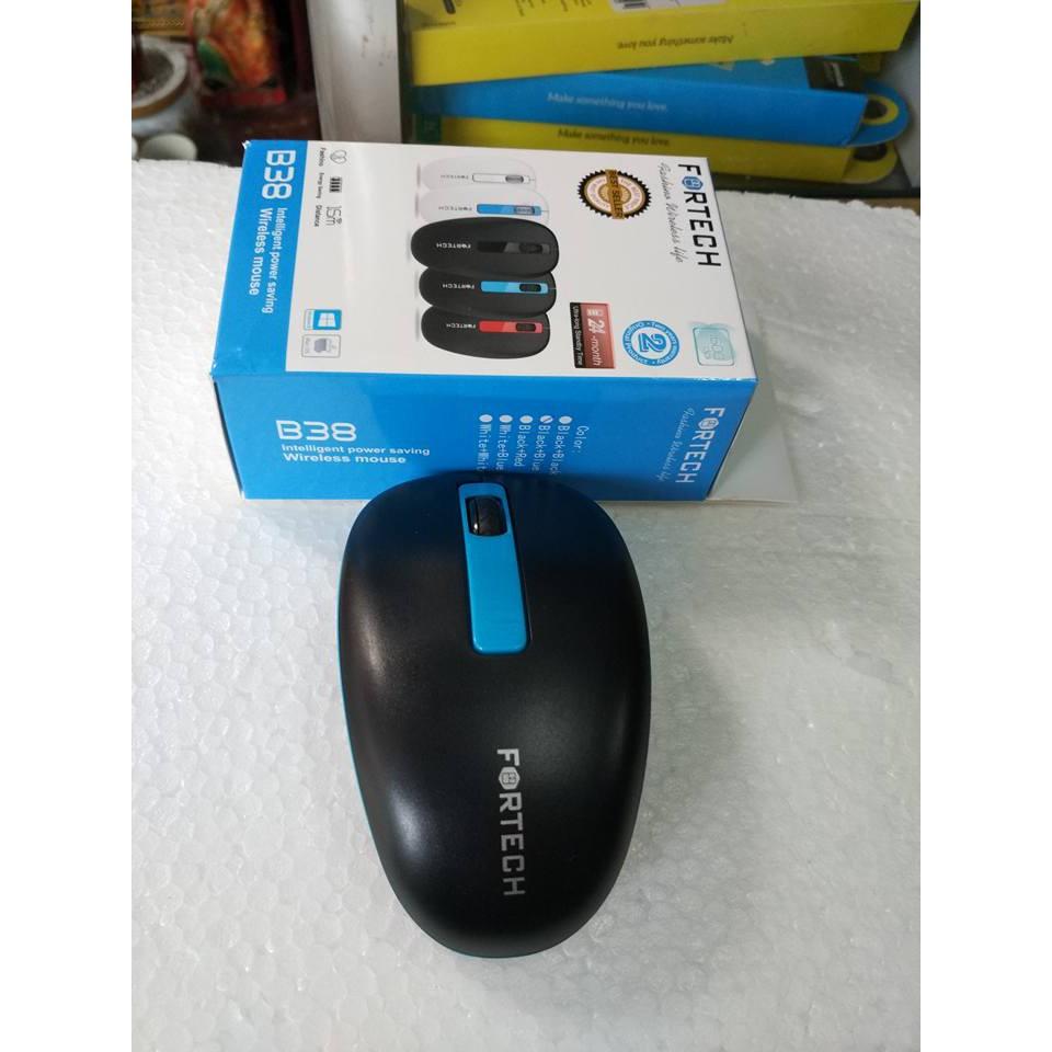 Chuột không dây Fortech B38 ko Pin dùng được Tivi Box tặng bàn di Gaming