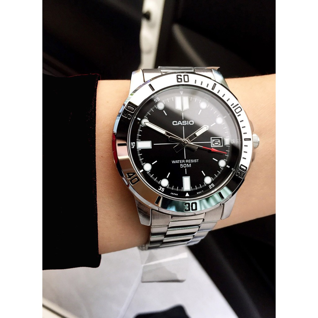 Đồng hồ nam dây kim loại Casio Anh Khuê MTP-VD01