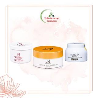 Bộ sản phẩm dưỡng trắng, cấp ẩm toàn thân Acosmetics (Kem body mềm, Ủ trắng pha lê tinh thể nước và muối tẩy tế bào) thumbnail