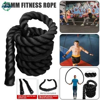 ydmtp 25mm Fitness Heavy Jump Rope Weighted Battle Skipping Ropes Power Slimming Sports @vn