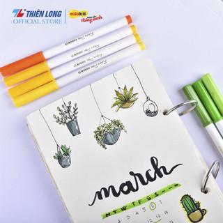 Hình ảnh Bút Lông Màu Fiber Pen Thiên Long-2