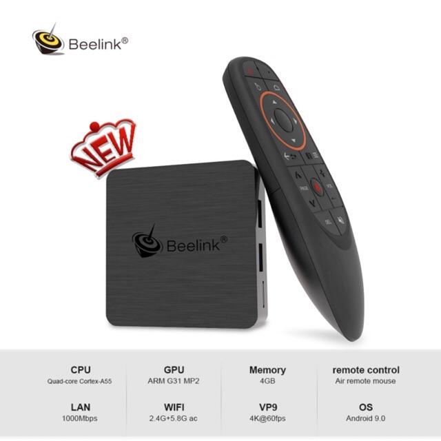 AndroidTV Box Beelink GT1 Mini-2 ATV, S905X3 Ram4G DDR4, Rom64G, Wifi AC, Giọng Nói Chuột Bay G10s/20s