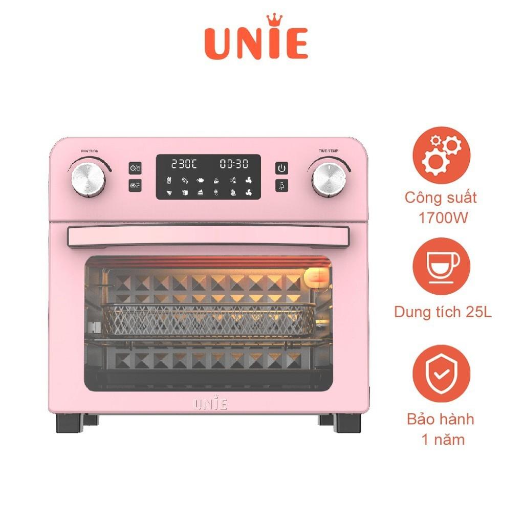 Lò nướng kiêm nồi chiên không dầu tiện lợi UNIE Q36 1700W, dung tích 25L, màu hồng - Hàng chính hãng