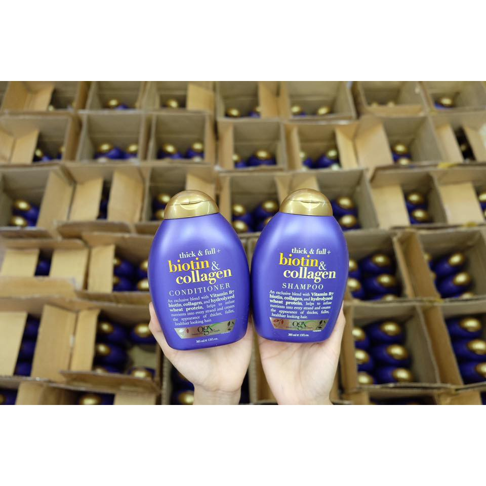 Bộ dầu gội, xả chống rụng và kích thích mọc tóc Biotin & Collagen của Mỹ 385ml - 3275622 , 425572857 , 322_425572857 , 770000 , Bo-dau-goi-xa-chong-rung-va-kich-thich-moc-toc-Biotin-Collagen-cua-My-385ml-322_425572857 , shopee.vn , Bộ dầu gội, xả chống rụng và kích thích mọc tóc Biotin & Collagen của Mỹ 385ml