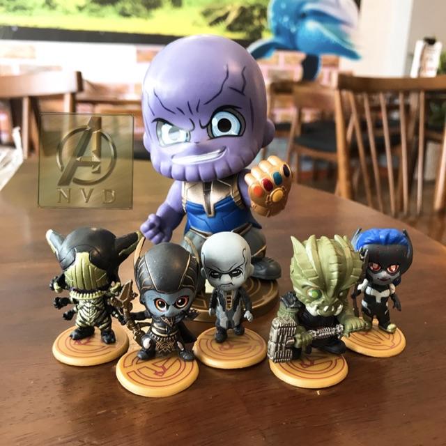 Bộ mô hình Marvel Thanos và đồng bọn cực cute