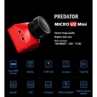[HCM – Freeship] – Máy quay phim Foxeer Predator v2 Standard / Mini 1000TVL Super WDR FPV Camera màu đen