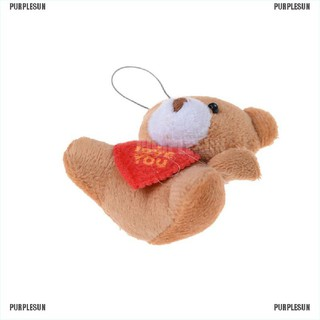 PURPLESUN 6 CM Holding Heart Bear Small Bear Use For Cellphone Promotion Toy Gifts Wholesa