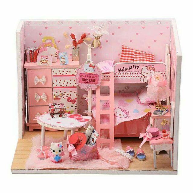 Mô hình nhà gỗ búp bê dollhouse DIY - Q003 Kitty Room