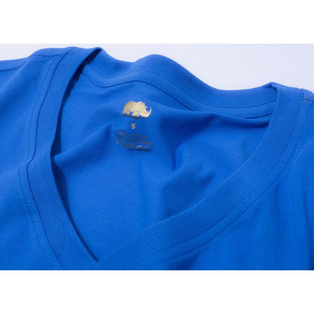 Gold Rhino áo thun nam nữ - áo đôi nam nữ thoát nhiệt công nghệ nhật bản xanh cổ vịt -