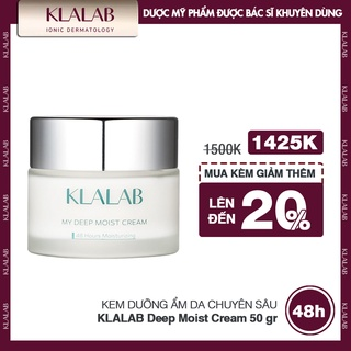 Kem dưỡng ẩm da chuyên sâu KLALAB Deep Moist Cream da căng mịn & mềm mại suốt 48h 50 gr thumbnail