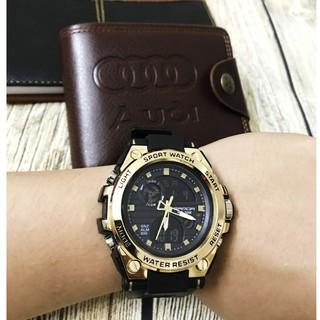 FREE SHIP_Đồng hồ thể thao nam Sanda dây khớp nhựa vòng cung SD01 -KING STORE