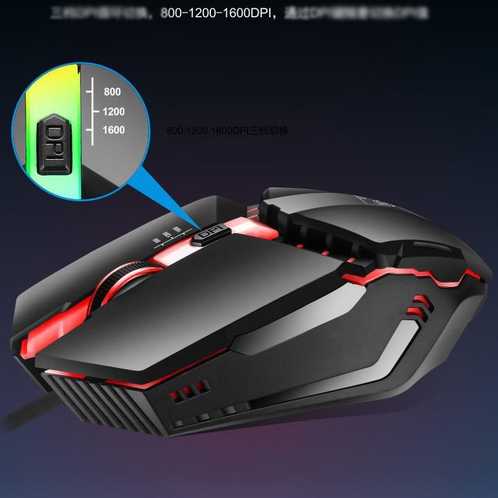 Chuột Game K3 Đèn led RGB màu tự thay đổi