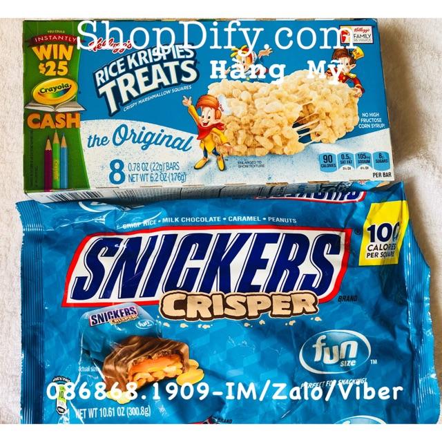 Combo bánh cốm gạo Kellogg's Rice Krispies Treat và Snickers - 3437282 , 1012013672 , 322_1012013672 , 348000 , Combo-banh-com-gao-Kelloggs-Rice-Krispies-Treat-va-Snickers-322_1012013672 , shopee.vn , Combo bánh cốm gạo Kellogg's Rice Krispies Treat và Snickers