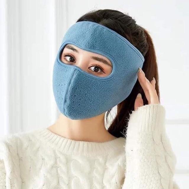Khẩu trang ninja vải nỉ dán gáy che kín tai chống nắng chạy xe phượt nam nữ hè 2020 - khau trang ni