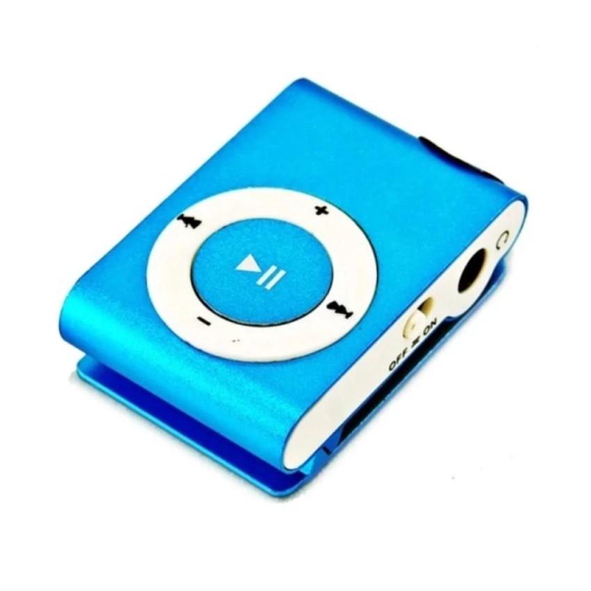 Máy nghe nhạc MP3 mini vỏ nhôm tặng tai nghe đây kéo (màu ngẫu nhiên)