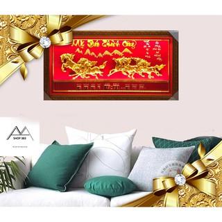Tranh đẹp_ Tranh đèn vạn liên [10 BỨC] đá vàng vải nhung đỏ cao cấp cỡ 50x 105, sang trọng _quý phái _ nổi bật.