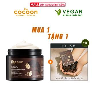 [Mã FMCGMALL - 8% đơn 250K] Bơ dưỡng thể cà phê đắk lắk cocoon 200ml thuần chay thumbnail