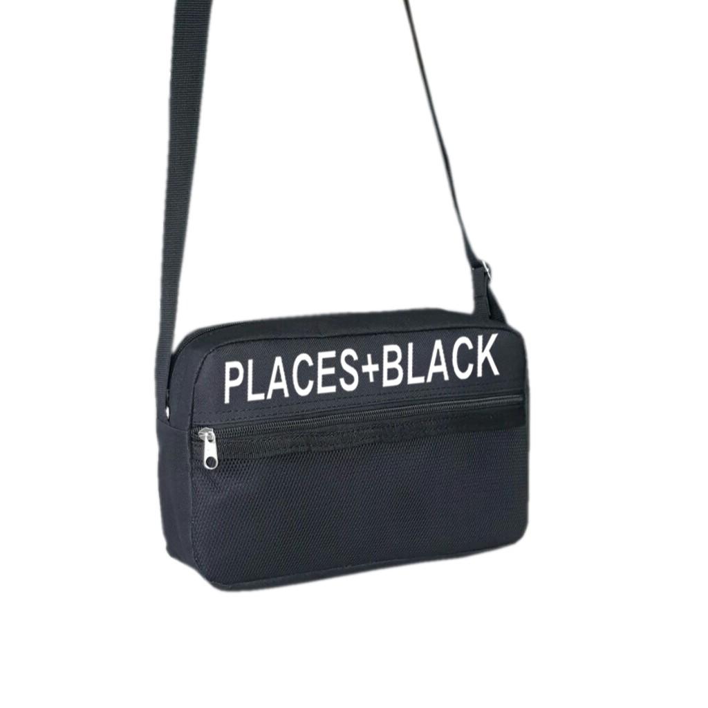 Túi đeo chéo TROY in chữ PLACES + BLACK - 3392273 , 1168338483 , 322_1168338483 , 89000 , Tui-deo-cheo-TROY-in-chu-PLACES-BLACK-322_1168338483 , shopee.vn , Túi đeo chéo TROY in chữ PLACES + BLACK