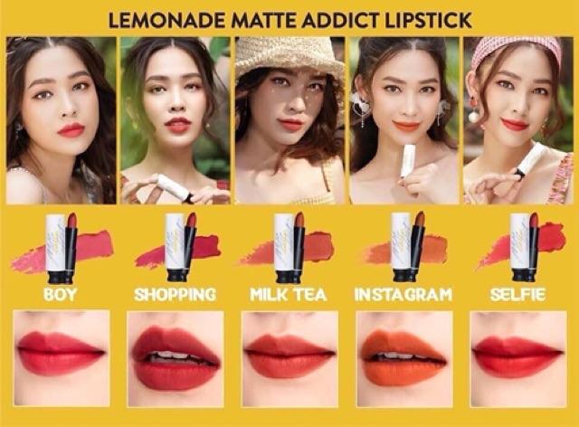 Son Thỏi Lemonade Matte Addict Lipstick Quách Ánh 3.8g | Shopee Việt Nam
